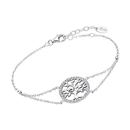 Lotus Silver JLP1746-2-1 - Pulsera con colgante de árbol de la vida y circonitas (plata 925)