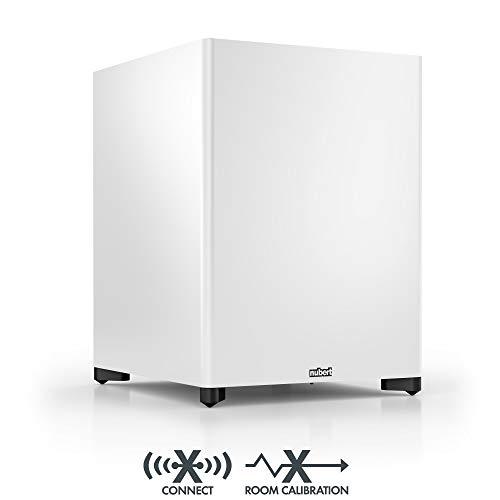 Nubert nuSub XW-700 Subwoofer | Lautsprecher für Bass & Effekte | Surround & Action auf höchstem Niveau | Aktivsubwoofer-Technik | LFE-Box mit 250 Watt | Subwoofer Weiß