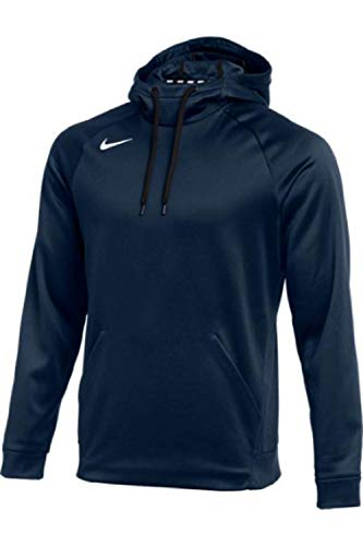 MEN#039S NIKE THERMA PULLOVER HOODIE NAVY/WHITE Large