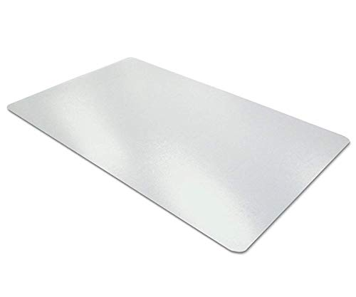 Aisakoc Almohadilla de escritorio transparente | Antideslizante | Bordes Redondos | Estera de escritura | Estera de escritorio de PVC | Con textura-900x400x1.5mm