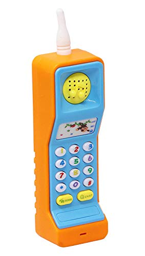 Enorme Cordless Musical Mobile Phone Toy, Intelligent Learning Machine Study Learn Words Sing Song Plastic Hobby Intelligence Gifts Educational Cellphone Telephone for Kids ( Batteries Included - Phone Pack 1)