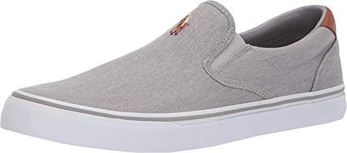 Polo Ralph Lauren Men's Thompson Sneaker, Grey, 11.5 D US