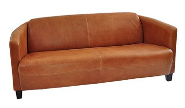 Clubsofa Rocket 3-Sitzer Vintage Leder, hell Columbia Brown Ledersofa Couch