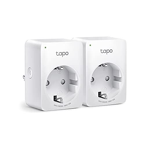 TP-Link Tapo P100 Presa Intelligente WiFi Smart Plug, Compatibile con Alexa e Google Home, Controllo Remoto tramite APP Tapo, Supporta Amazon Frustration-Free Setup (FFS), confezione da 2 pezzi