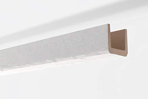 Viga decorativa techo Imitación madera blanca NMC NOMABEAM 150X150X2000mm Poliuretano 2 metros