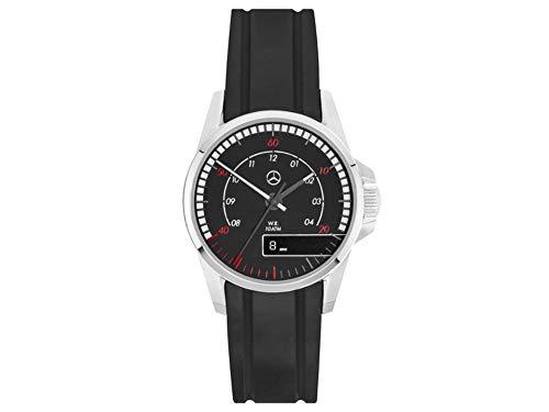 Mercedes-Benz Armbanduhr Herren, Trucks schwarz/rot/silberfarben, Edelstahl/Silikon