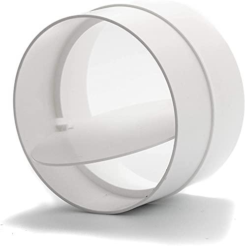 125 mm de diámetro de plástico Inline Backdraf. Conecte el secador de aire de salida o baño y los conductos con la válvula antirretorno.