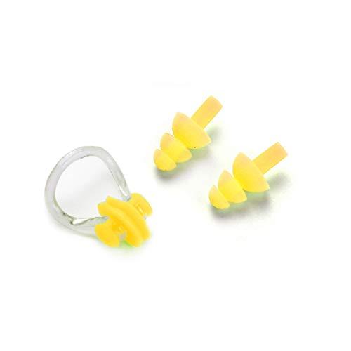 Idyandyans Silikon Schwimmen-Nasen-Klipp mit Ohr-Stecker-Nasen-Klipp-Ohr-Set für Schwimmen oder Anderen Wassersport