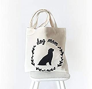 Dog Tote Bag, Mother's Day Gift, Dog Mom Gift, Cotton Canvas Tote, Gift For Dog Lover, Gift For Mom