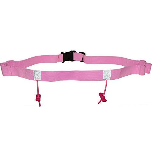 Kathleen0 Number Belt ycling Bib Reflective Motor Triathlon Unisex Running Race Outdoor Waist Pack Sports Polyester Holder(Pink)