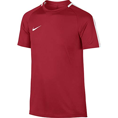 Nike Kids Y NK Dry Acdmy SS Academy T-shirt, Red (University Red/White), 14 Years (Manufacturer Size: XL)