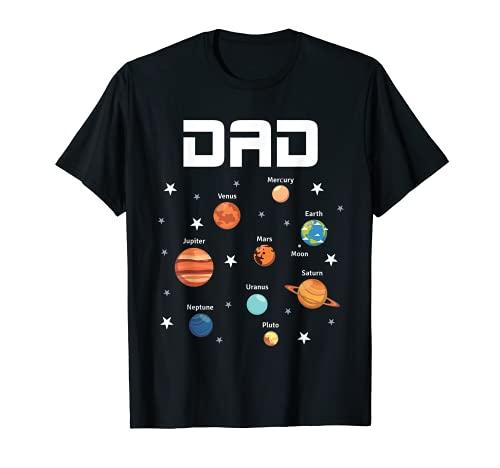 Espacio Exterior Fiesta de Cumpleaños Tema Papá Planetas Solares Regalo Camiseta