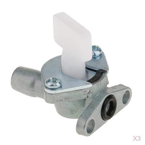 prasku 3 Piezas Moto Combustible Válvula de Gas Carburador F/ATV Accesorios Plata