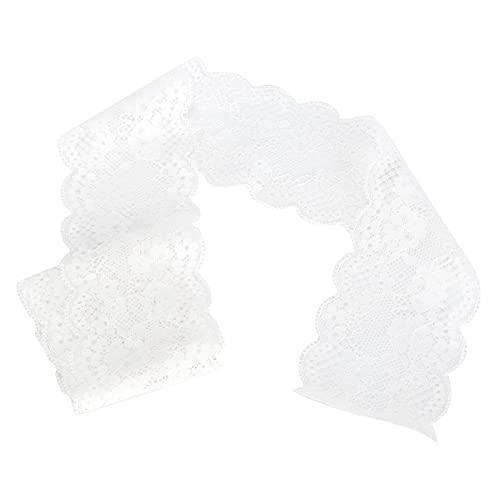 Cinta de decoración, blanca Decoración de diseño de ropa Cinta de encaje ondulado para álbum de recortes para embalaje