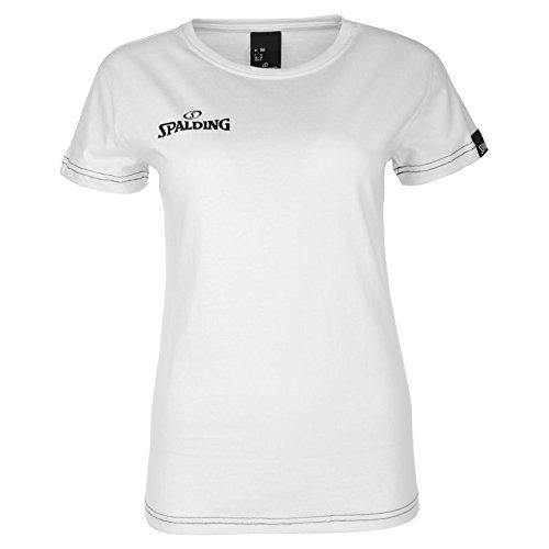 Spalding 4Her Team II T-Shirt Femme, Blanc, BlancFR : 2XL (Taille Fabricant : XXL)