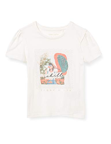Teddy Smith T-PATCHY MC JR T-Shirt, Middle White, 14 Ans Girls
