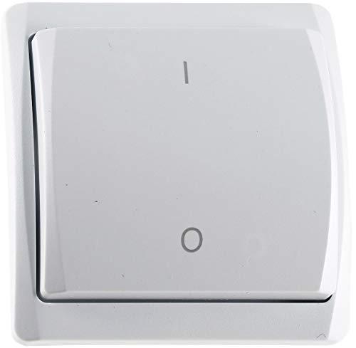 Funk Wandschalter 1 Wippe Wandsender für Funk-Empfänger Pilota Casa LED geeignet max. 70m Reichweite