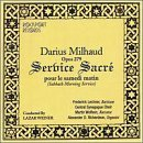 Milhaud: Sabbath Morning Service (Service Sacre Pir Le Samedi Matin) by Central Synagogue Choir