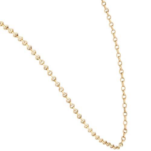 Jollys Jewellers Collar Belcher de oro amarillo de 9 quilates para mujer, cadena de 58,4 cm (1 mm de ancho)