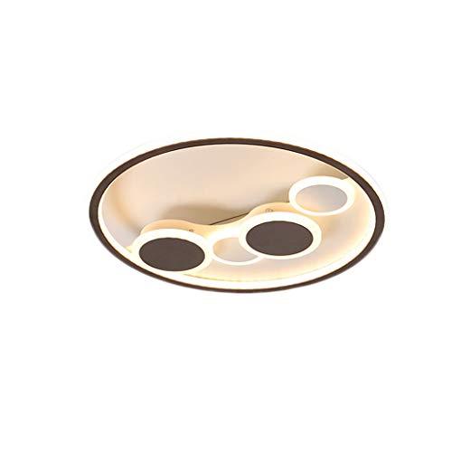 Lámpara de techo LHY LED Lámpara de Sala Lámpara de Dormitorio de Ambiente Moderno Simple Lámpara de habitación Creativa romántica cálida Exquisito (Color : Stepless dimming, Size : 58 * 7cm)
