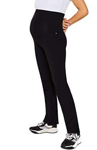 ESPRIT Maternity Damen Pants Jersey Umstandshose Umstands Schlafanzughose Loungehose (schwarz (Black), L)