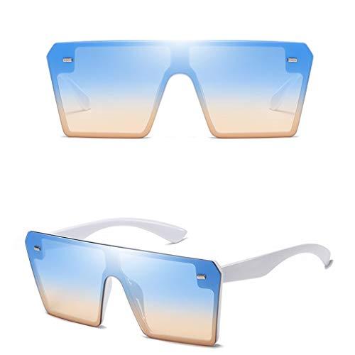 Gafas de Sol Polarizadas Hombre Gafas Cuadradas Extragrandes Para Mujer Ligero Lentes de Sol con Lentes de Colores a Prueba de Viento y Polvo Vacaciones Verano en La Playa