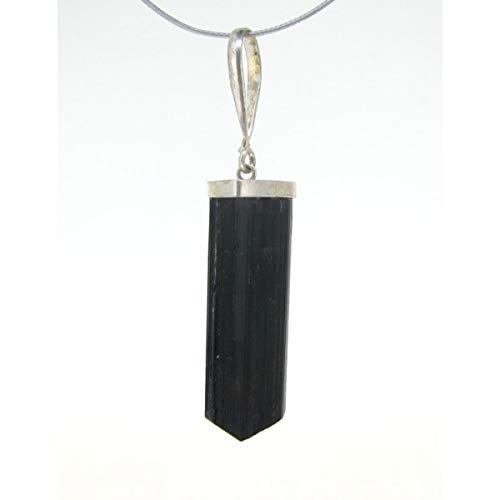 Colgante turmalina Negra Pequeño Plata 925 Minerales y Cristales, Belleza energética, Meditacion, Amuletos Espirituales