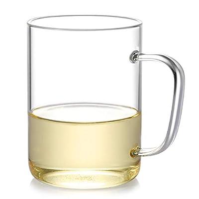 Glass Tea Cups with Glass Coffee Mugs,Wide Mouth Glass mug (Glass tea mug)