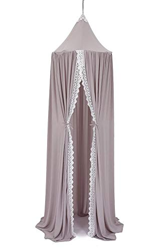 YUAKOU Princess Bed Canopy for Kids Baby Bed, Chiffon Dome Mosquito Net Hanging Decoration Christmas New Year Presents