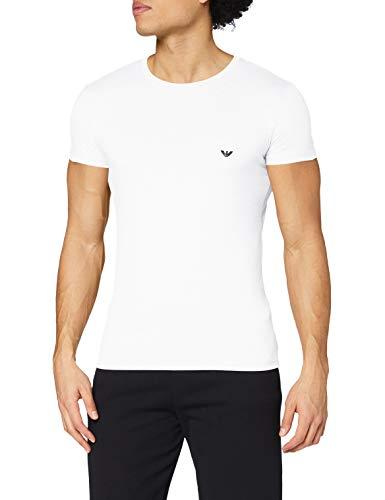 Emporio Armani CC729 111035_00010 Camiseta Interior, Blanco (White), Small (Tamaño del Fabricante:S) para Hombre