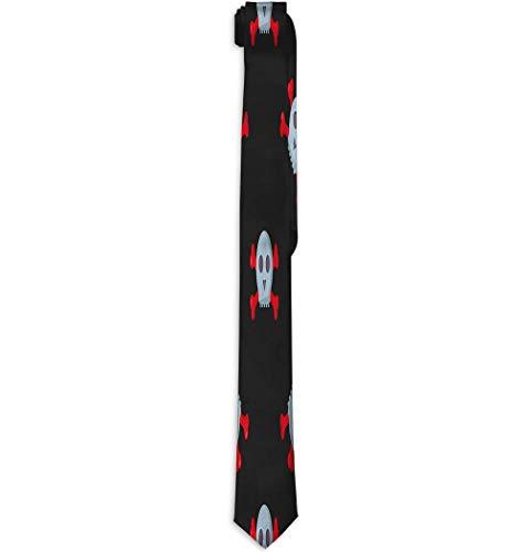 Adamitt Herren Polyester Seide Krawatte Krawatten Grunge Schädel Mensch Knochen Horror Kunst Totes Skelett Halloween Vintage Zeichnung Grafik Farbe