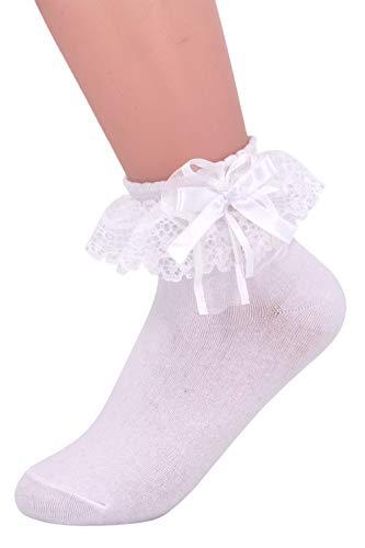 SEMOHOLLI Women Ankle Socks,Lace Ruffle Frilly Comfortable Princess Socks Lace Socks