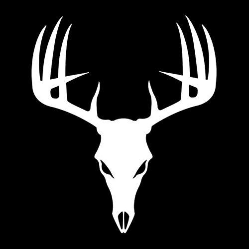 WZZA Hunting Deer Hunter Antlers Créateurs Décalcomanies Voie de Mode Décalcomanies PVC Personnalisée Noir/Blanc, 18cm X 15cm (Color Name : White)