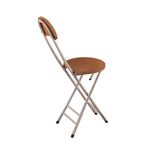 Chaise pliante, courbé Accueil Dossier de formation for étudiants dortoir portable Tabouret pliant Tabouret ronde (Color : Wood grain color)