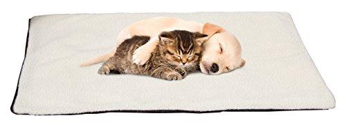 "PETMAKER Large/XL Self Warming Thermal Pet Crate Pad-36""x24""-Ivory Bed Mats"