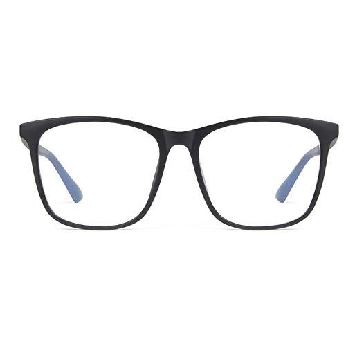 blue light glasses |gafas de sol| Simple y con estilo del marco Negro Grande No Grado cristales hembra anti-azul claro de radiación gafas de equipo ultra ligero marco anti-radiación azul TR material (