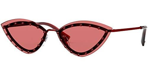 Valentino Gafas de sol VA2033 305484 Gafas de sol Mujer color Rojo lente rojo tamaño 62 mm
