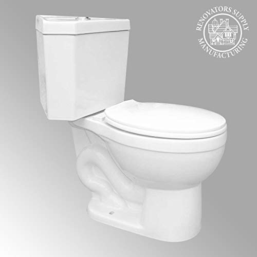 Corner White Round Dual Flush Bathroom Toilet Grade A Porcelain Space Saving Design