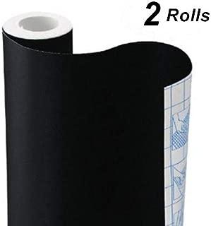 Chalkboard Vinyl Paper Wall Decal Sticker Adhesive Blackboard, TAKSDAI 2 Rolls Eraserable Adhesive Paper Blackboard Surface Wallpaper with Bonus 10 Colorful Chalks,Each Roll 17.7'' × 78.7''