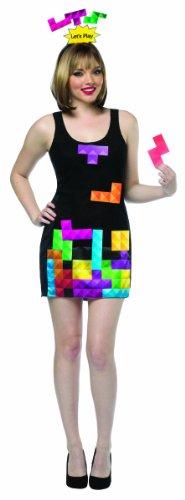 Rasta Imposta Women's Tetris Interactive Dress Costume, Officially Licensed.