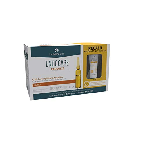 Endocare Radiance C20 Proteoglicanos Ampollas, 30x2ml+REGALO Heliocare 360 Water Gel SPF50+, 15ml