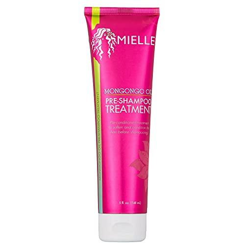 Mielle Organics Mongongo Oil Pre-Shampoo Treatment, Soften and Condition Hair, 5 Ounces