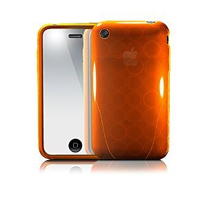 iSkin solo FX for iPhone 3G/Sunset (translucent orange)(-)