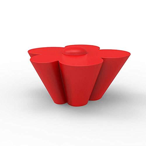 Vondom Agatha table pour enfants laquée blanche avec intérieur rouge