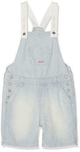 Pepe Jeans Pitch Pantalones de Peto, Azul (10Oz Washed Hickory Denim Denim 000), 13-14 años (Talla del Fabricante: 14) para Niñas