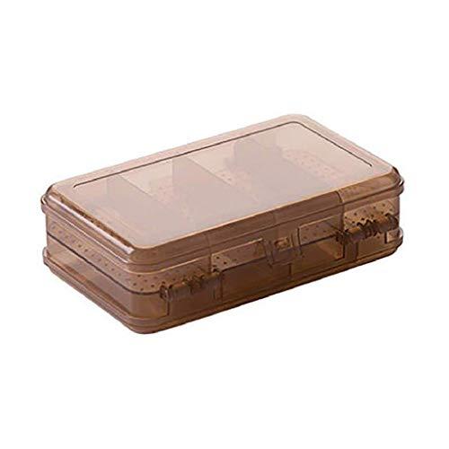 YUTRD ZCJUX Box-joyería de Doble Cara de plástico del Organizador del almacenaje del envase de la joyería Caja de la Caja con separadores de Granos del Arte del Maquillaje Anillos Pendientes