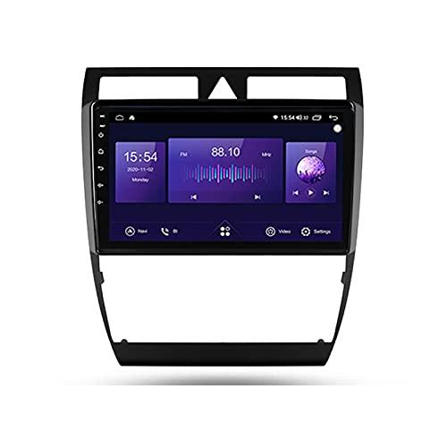 Android 10 Car Multimedia System Wifi Vehicle Audio Bluetooth Car Radio Para Audi A6 S6 1997-2004,Con Pantalla Táctil De 9'' Enlace Espejo 5Ghz Wifi GPS Mandos De Volante Cámara Trasera,7862,6G+128G