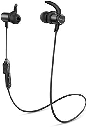 Anker Wireless Headphones, Upgraded SoundBuds Slim Workout Headphones Magnetic In-Ear Earbuds, Bluetooth 5.0, 10-Hour Playtime, IPX7 Waterproof for Workouts, Running, Swimming, Gym, Work, Home