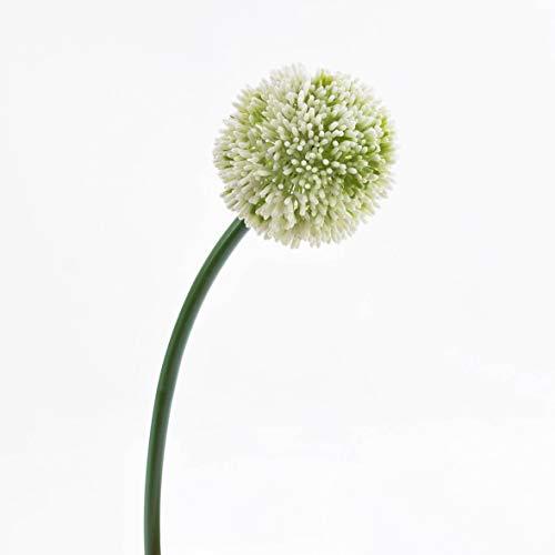 artplants.de Künstlicher Alliumzweig, Creme, 65cm, Ø 10cm - Deko Zierlauch Blüte - Kunstblumen Kugel