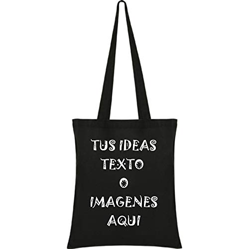 YISAMA Bolsas de Algodón con Asas para Personalizar Impresión con Texto e Imagen